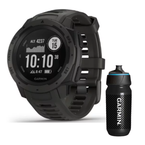 Combo SmartWatch Garmin Instinct + Botella Garmin Carbon 500 ML