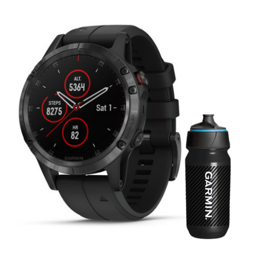 [INN03409] Combo SmartWatch Garmin Fenix 5 Plus Zafiro + Botella Garmin Carbon 500 ML
