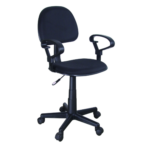 [INT7881] Computer Chair w/ Arm Rest (Black)