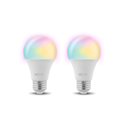 [INT4052] Nexxt Solutions Connectivity - Light Bulb - A19 RGB 110V 2PK