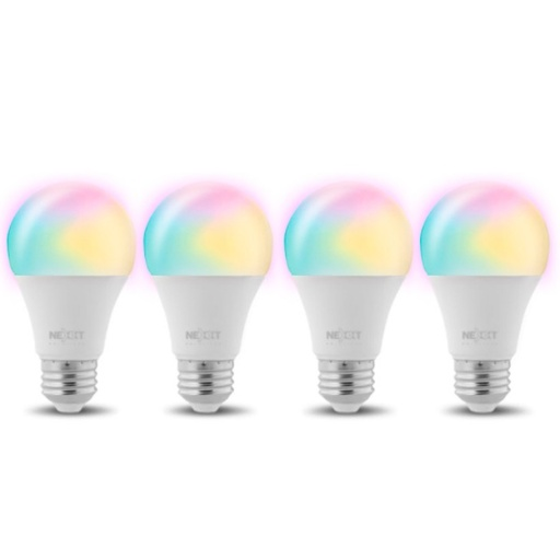 [INT4053] Nexxt Solutions Connectivity - Light Bulb - A19 RGB 110V 4PK