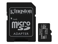[INT4069] Kingston Canvas Select Plus - Tarjeta de memoria flash (adaptador microSDHC a SD Incluido) - 32 GB