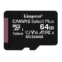 [INT4091] Kingston Canvas Select Plus - Tarjeta de memoria flash (adaptador microSDXC a SD Incluido) - 64 GB