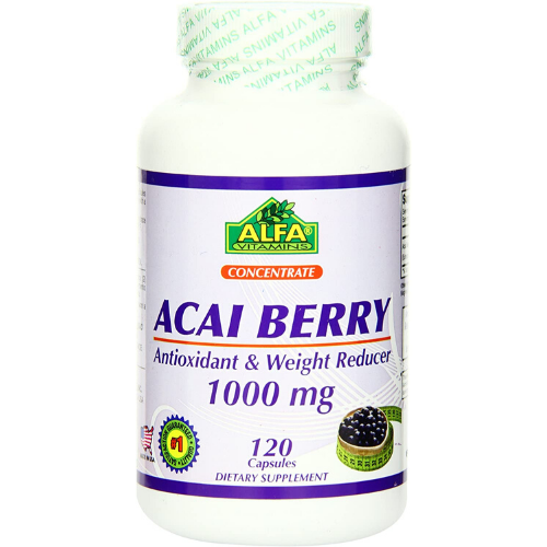 [INN0870] Vitamina Alfa Acai Berry 1000 mg 120 Capsulas