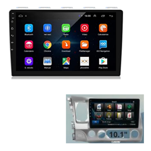 "[INN02532] Radio Android 10.1"" + Kit Dash Honda Civic 06-11"